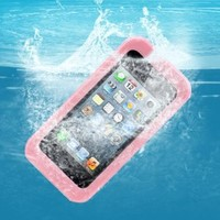 AGPtek® Pink IPX8 Certificated 20ft Waterproof Hard Case Cover for Apple iPhone 4 4S 5S 5C (including Pink Neck Strap)