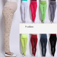 9 Colors 2014 Korean Maternity Pants Belly Pants For Pregnant Women Maternity Women Clothing Trousers Pants Autumn = 1946453828