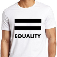 Equality_LGBTQ Pride T-shirt Collection_White Tee_Men - Forever LGBTQ