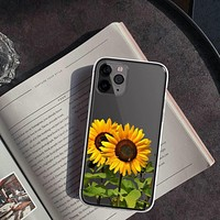 Sunflowers Clear Phone Case