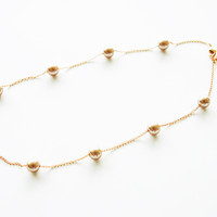 18K Rose Gold plated Beige pearls necklace