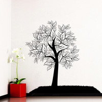 Wall Decal Tree Silhouette Leaves Forest Wall Decals For Playroom Bedroom Living Room Vinyl Stickers Nature Home Decor Art Murals 3944