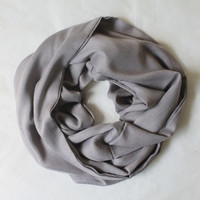 grey pashmina scarf,infinity scarf, scarf, scarves, long scarf, loop scarf, gift