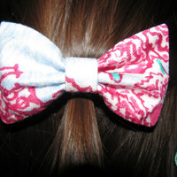 Pi Beta Phi Lilly Pulitzer Fabric Bow - MEDIUM