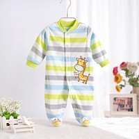 Baby rompers 2017 new pattern fleece infant boy and girl body suit ropa de bebe toddler jumpsuit clothing newborn baby clothes