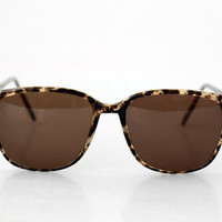 NEW Vintage French Unisex Sunglasses // Made in France // Tortoise Large Mens Womens specs - 70s