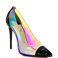 Christian Louboutin - Debout Disco Patent Leather & PVC Pumps - Saks Fifth Avenue Mobile
