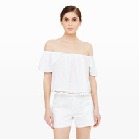 Women | Sleeveless | Mathesda Off-The-Shoulder Top | Club Monaco