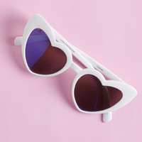 Wholeheartedly Darling Sunglasses in White