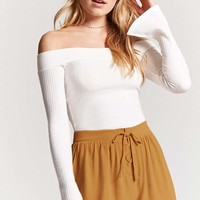Crisscross Crepe Swing Shorts