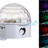 HSH-525 Fancy LED Dancing Speaker with USB, TF Card Reader (White)