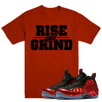 RISE GRIND- Nike Foamposite Metallic Red