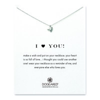 i ♥ you full heart necklace, sterling silver - Dogeared