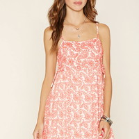Lace-Up Paisley Mini Dress | Forever 21 - 2000200004