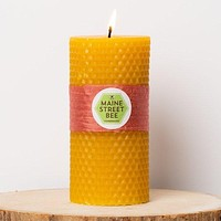 Maine Street Bee - 4-1/2-in Beeswax Honeycomb Candle