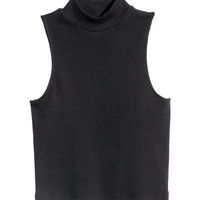 Short turtleneck top - from H&M