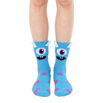 Fuzzy Monster Crew Socks