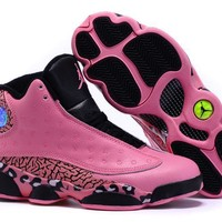 Air Jordan 13 Retro AJ13 Pink/Black Women Basketball Shoes US 5.5-8.5
