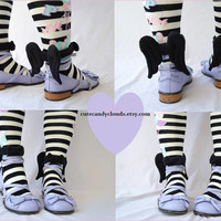 Cute and soft Ankle Angel Wings- black