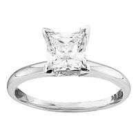 14kt White Gold Women's Princess Diamond Bridal Wedding Engagement Ring 1/2 Cttw - FREE Shipping (US/CAN)
