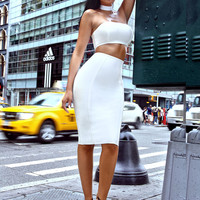 Alice White Two Piece Bandage Dress with Choker