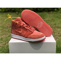 Air Jordan 1 Satin Red Women Sneaker Shoe 36-40