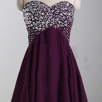 Short Homecoming Dresses Sweetheart Style