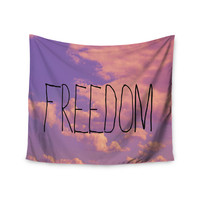 "Rachel Burbee ""Freedom"" Pink Purple Wall Tapestry"