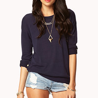Essential Buttoned Vent Sweater | FOREVER 21 - 2026139314
