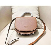Givenchy Women's fashion simple and versatile small round bag shoulder Messenger bag Brown