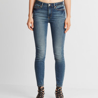 Seriously Stretchy Medium Wash High-Waisted Ankle Jegging - Aeropostale