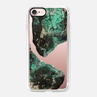 Casetify iPhone 7 Classic Grip Case - Power Green Stones by Lisa Argyropoulos #iPhone 7