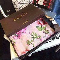 GUCCI Newest Fashionable Women Easy To Match Silk Scarf Silk Cape Scarf Scarves