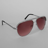 Women's Lucy Sunglasses in Silver by Daytrip.