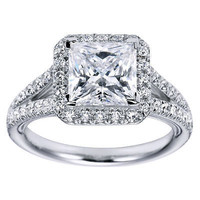 AMAZING 1 CZ STUD 925 STERLING SILVER ENGAGEMENT AND WEDDING RING FOR HER GIFT