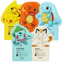 Korea Cosmetics  Mask Sheet 3pcs  Edition Face Mask Facial Skin Care Whitening Acne Treatment Remove BlackheadKawaii Pokemon go  AT_89_9