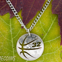 Basketball with Custom Jersey Numbers, Hand cut coin