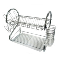 Better Chef DR-16 Dish Rack Chrome 16 W/Side Mounting Cup & Cutlery Holder