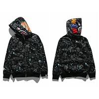 Bape Shark Head Luminous Series Sweater Star M ~ 2xl