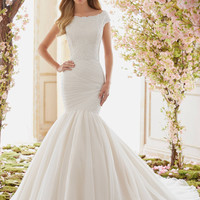 Voyage by Mori Lee 6842 Tulle Mermaid Skirt Wedding Dress – Off White by Bridal Expressions