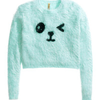Printed Knit Sweater - from H&M