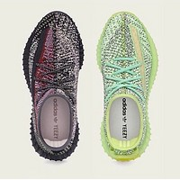 Hipgirls ADIDAS Yeezy Boost 350 V2 Couple Starry Luminous Casual Sneakers