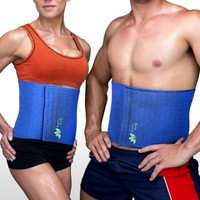 Premium Waist Trimmer Belt - Adjustable Neoprene Weight Loss Sauna Belt For Men & Women - Promotes Water Loss in the Abdominal Area During Exercise to Fight Water Retention -Supports the Core and Back - Comfortable, Durable, No-Slip Construction - Satisfac