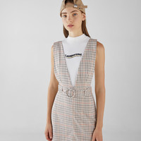 Short plaid dress - Dresses - Bershka United States