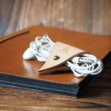 Leather Cord Holder #Natural Nude