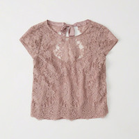 Womens Bow-Back Lace Top | Womens Tops | Abercrombie.com