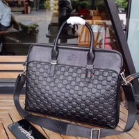 Gucci Linea Multi Function Black GG Guccissima Hobo Bag New