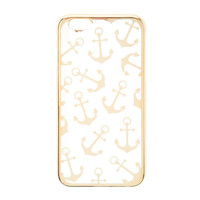 Clear and Silver Anchors Cover for iPhone 6