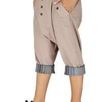 Bjelly Calf Length Street Casual Cotton Pant