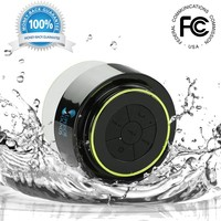 Superior Sounds BT-W110 Waterproof & Portable Bluetooth Shower Speaker with Built-in Mini Mic